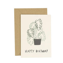 Load image into Gallery viewer, Monstera Birthday Greetings Card