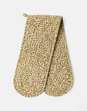 Load image into Gallery viewer, Animal Print Double Oven Glove Mustard
