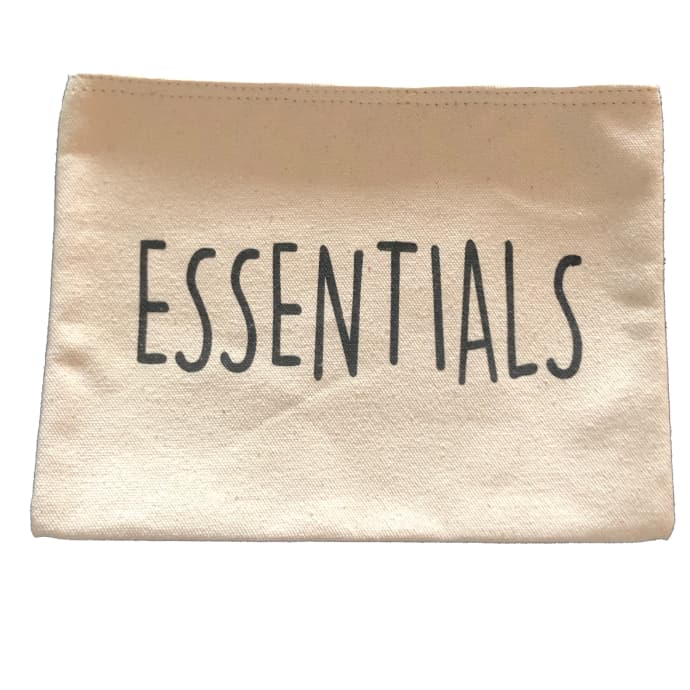 'Essentials' Canvas Cosmetics Bag