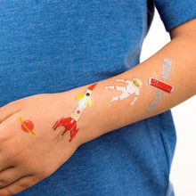 Load image into Gallery viewer, Space Age Temporary Tattoos
