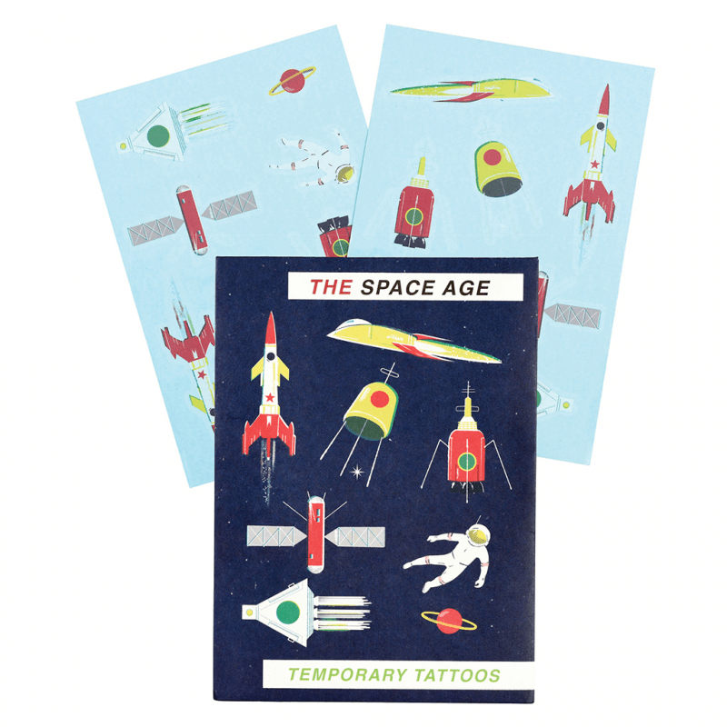 Space Age Temporary Tattoos