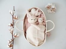 Load image into Gallery viewer, Fabelab soft bunny rattle - mauve