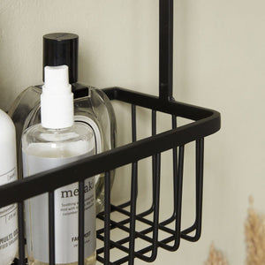 Large Steel Black Bath Basket