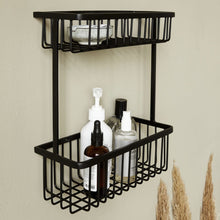 Load image into Gallery viewer, Large Steel Black Bath Basket