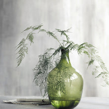 Load image into Gallery viewer, Glass Light Green Bottle Vase