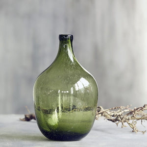 Glass Light Green Bottle Vase