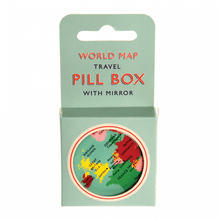 Load image into Gallery viewer, Pill Box - World Map