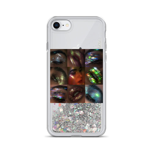 Low Lights Collage Liquid Glitter iPhone Case