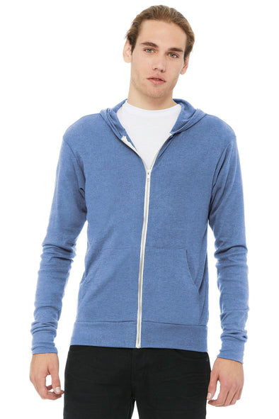 BELLA+CANVAS Triblend Full-Zip Lightweight Hoodie