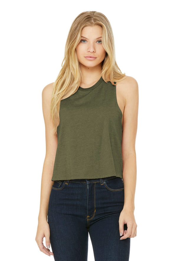 BELLA+CANVAS Women's Racerback Cropped Tank