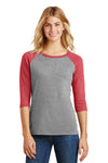 District Women's Perfect Tri 3/4-Sleeve Raglan