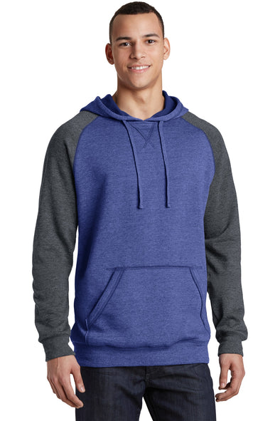 District Young Mens Lightweight Fleece Raglan Hoodie