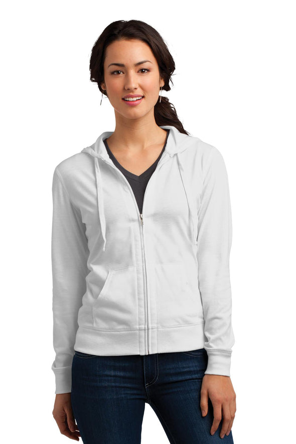 District Women's Fitted Jersey Full-Zip Hoodie
