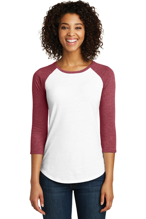 District Women's Fitted Very Important Tee 3/4-Sleeve Raglan