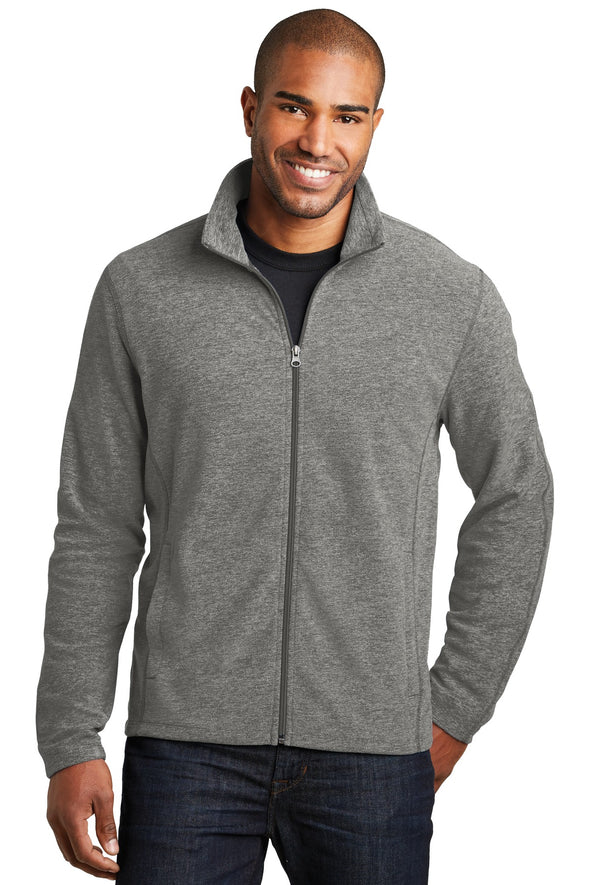 Port Authority Heather Microfleece Full-Zip Jacket