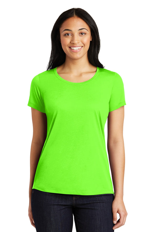 Sport-Tek Ladies PosiCharge Competitor Cotton Touch Scoop Neck Tee