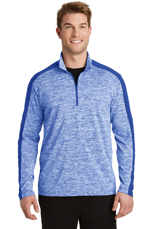 Sport-Tek PosiCharge Electric Heather Colorblock 1/4-Zip Pullover