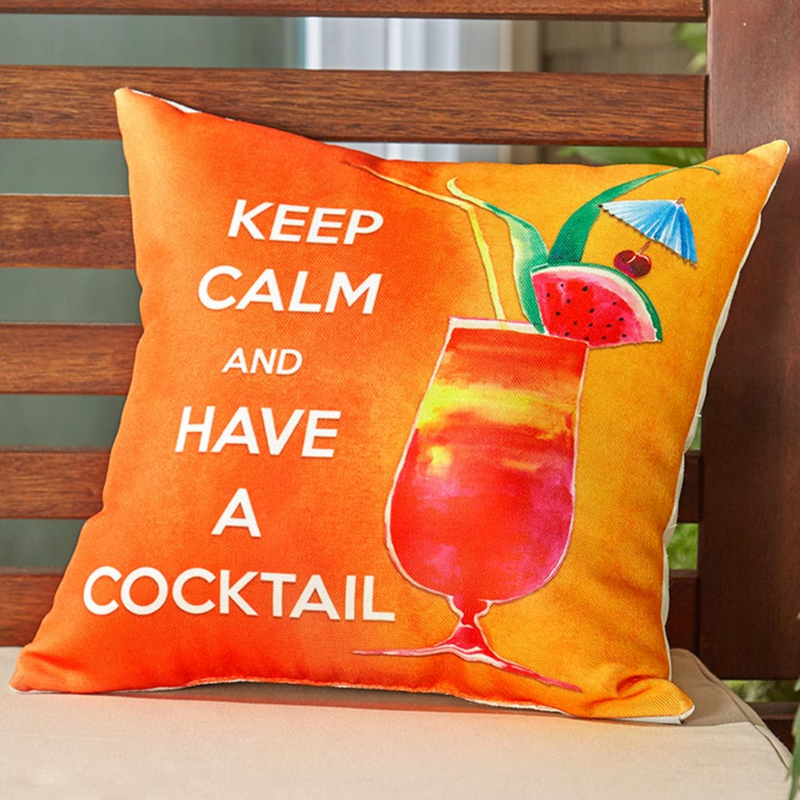 Keep Calm Cocktail Pillow