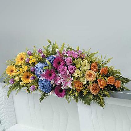 Flower Delivery Florist Funeral Sympathy Naples Amazing Grace Casket Spray