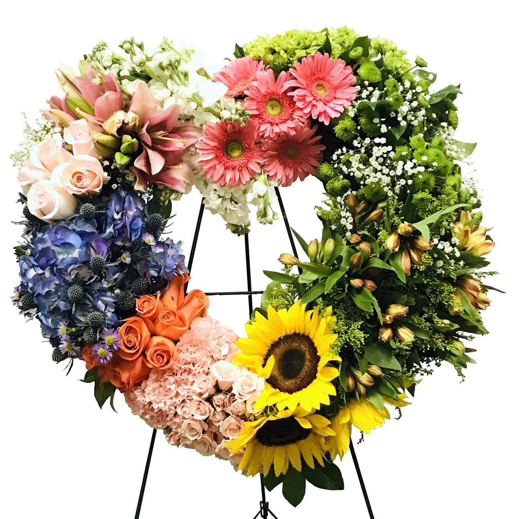 Flower Delivery Florist Funeral Sympathy Naples Amazing Grace Heart