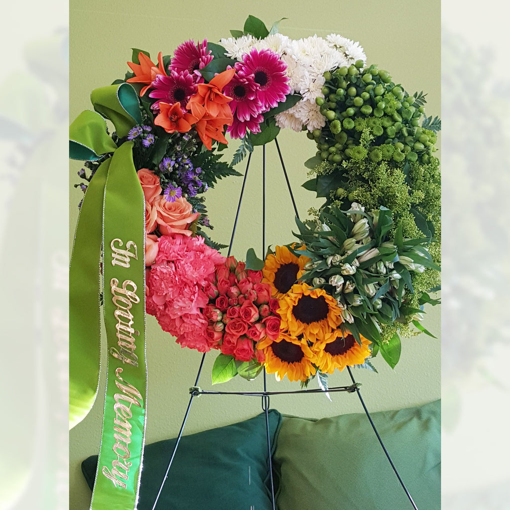 Flower Delivery Florist Funeral Sympathy Naples Amazing Grace Tabletop Wreath
