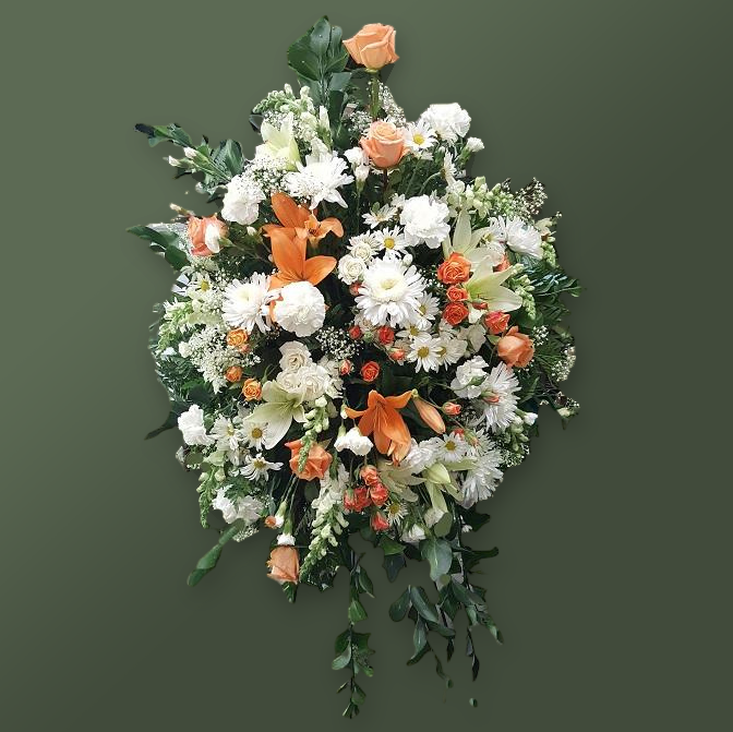 Flower Delivery Florist Funeral Sympathy Naples Balance And Beauty Standing Spray