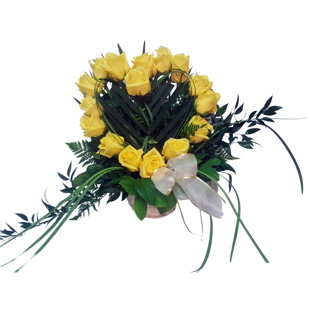 Flower Delivery Florist Funeral Sympathy Naples Beautiful Friendship Heart Basket
