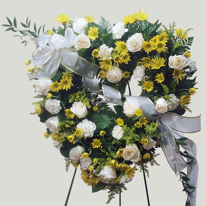 Flower Delivery Florist Funeral Sympathy Naples Beautiful Friendship Heart