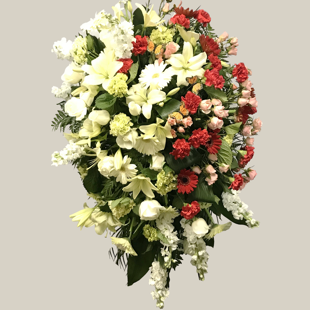 Flower Delivery Florist Funeral Sympathy Naples Butterfly Standing Spray
