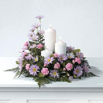 Flower Delivery Florist Funeral Sympathy Naples Candle Light Divinity