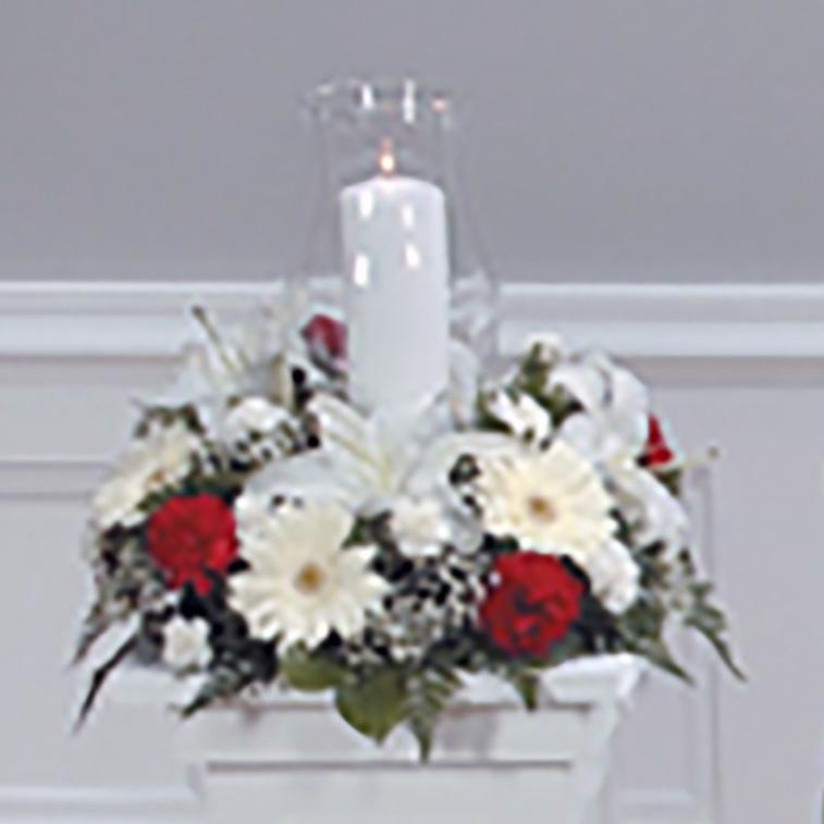 Flower Delivery Florist Funeral Sympathy Naples Cherished Candle Light Tribute Basket