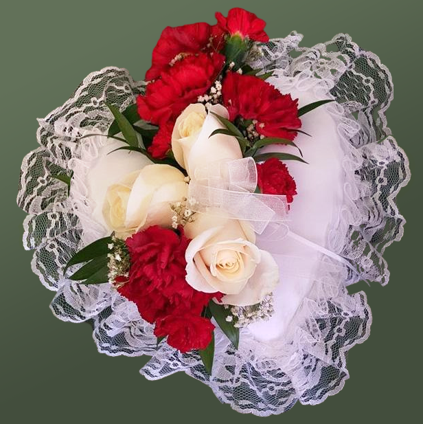 Flower Delivery Florist Funeral Sympathy Naples Cherished Tribute Heart Insert