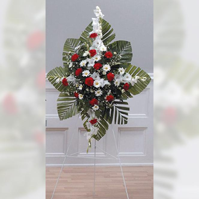 Flower Delivery Florist Funeral Sympathy Naples Cherished Tribute Standing Spray