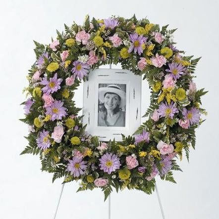 Flower Delivery Florist Funeral Sympathy Naples Circle Of Blossoms Wreath