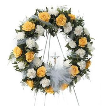 Flower Delivery Florist Funeral Sympathy Naples Circle Of Prayer Wreath