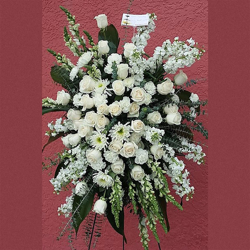 Flower Delivery Florist Funeral Sympathy Naples Deluxe Serenity Standing Spray