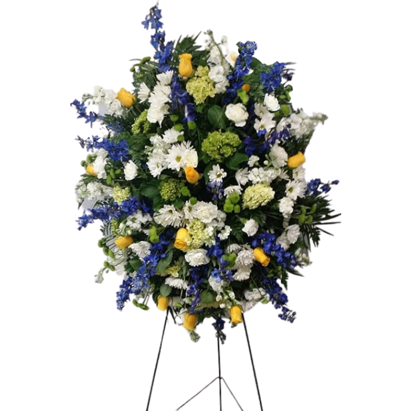 Flower Delivery Florist Funeral Sympathy Naples Deluxe Sunny Provence Standing Spray