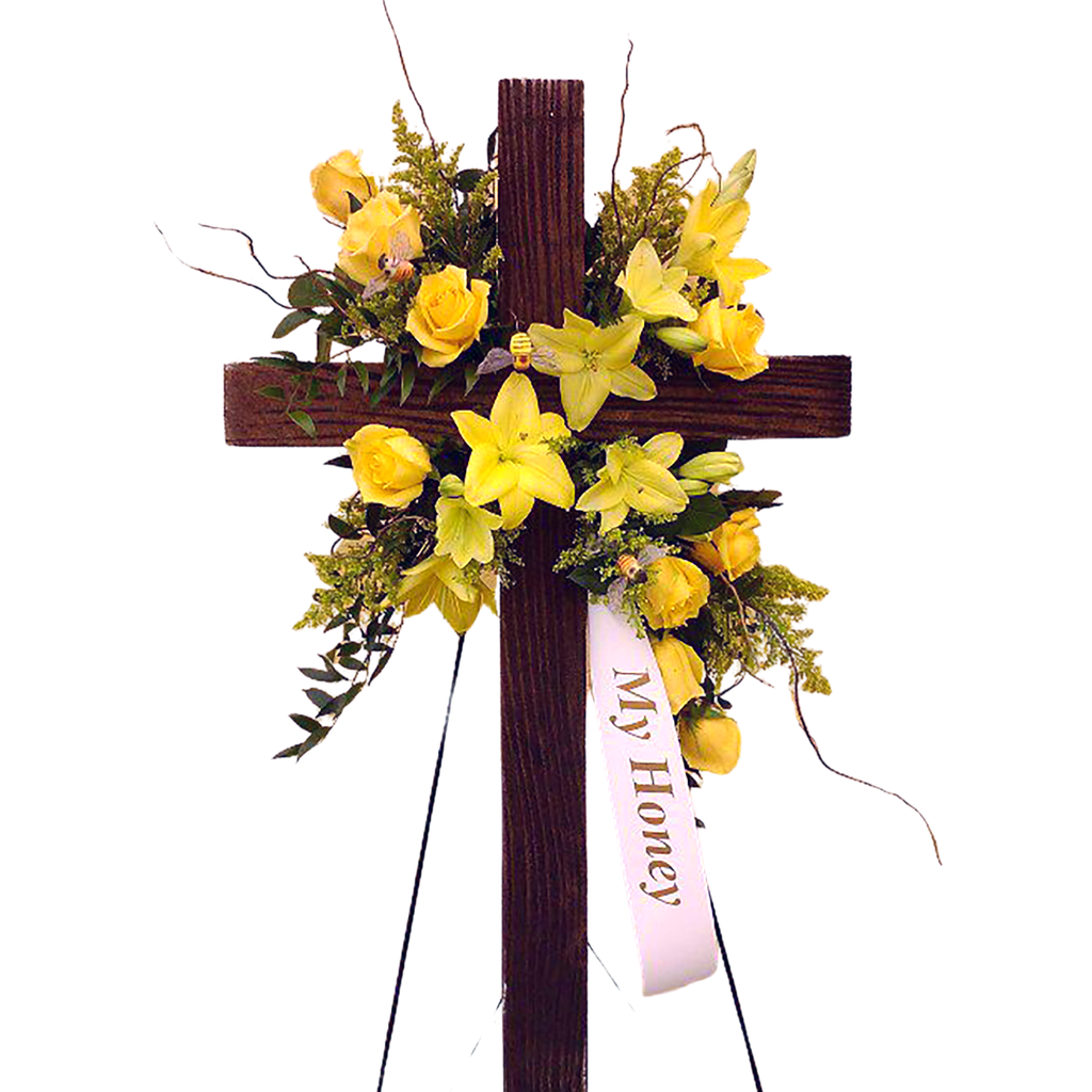 Flower Delivery Florist Funeral Sympathy Naples Endearing Comfort Cross