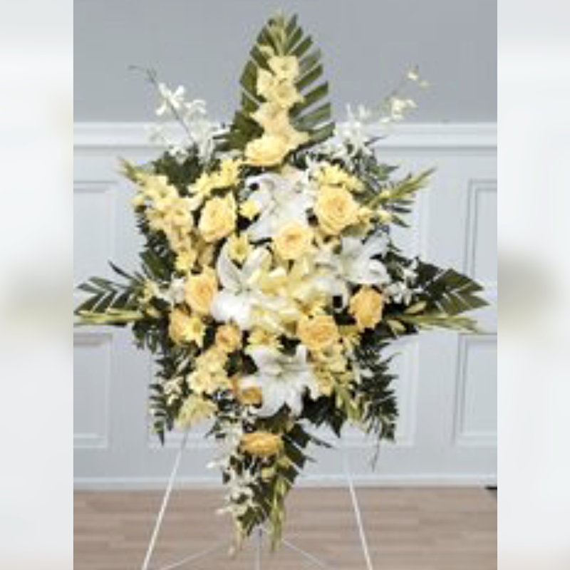 Flower Delivery Florist Funeral Sympathy Naples Endearing Standing Tribute Spray