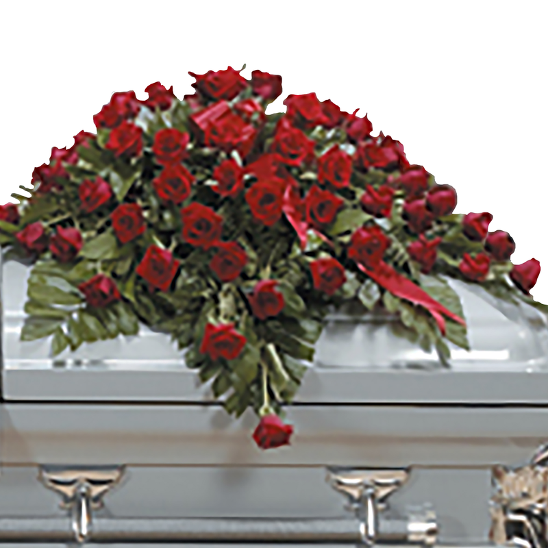 Flower Delivery Florist Funeral Sympathy Naples Eternal Love Casket Spray