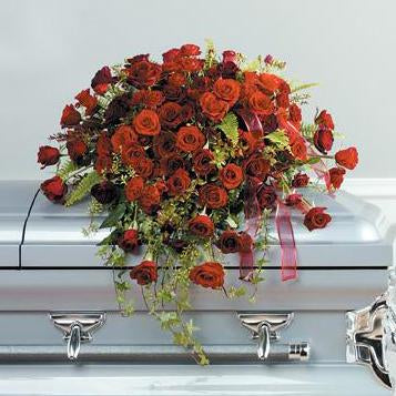 Flower Delivery Florist Funeral Sympathy Naples Everlasting Love Casket Spray
