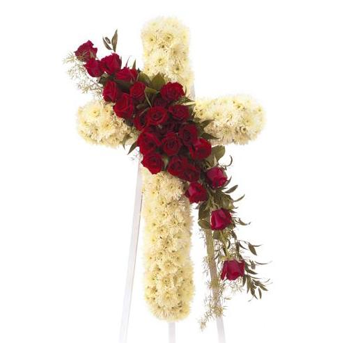 Flower Delivery Florist Funeral Sympathy Naples Faithful Prayer Cross