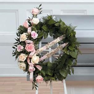 Flower Delivery Florist Funeral Sympathy Naples Gentle Embrace Wreath