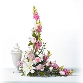 Flower Delivery Florist Funeral Sympathy Naples Heavenly Pink Memorial