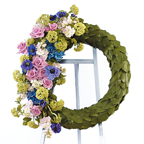 Flower Delivery Florist Funeral Sympathy Naples Monet S Garden Wreath
