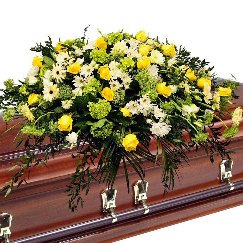Flower Delivery Florist Funeral Sympathy Naples Nature S Friendship Casket Spray