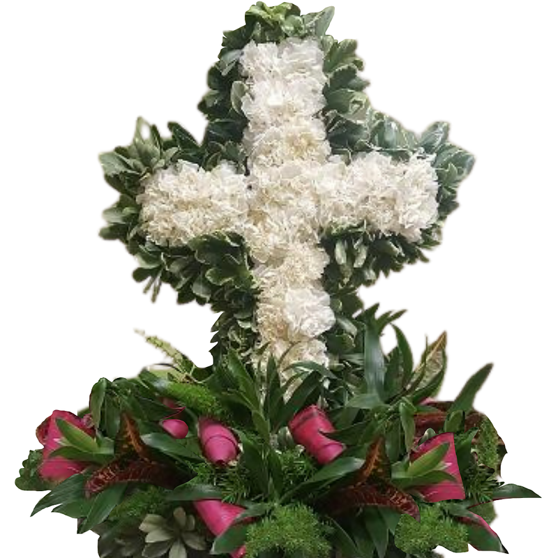Flower Delivery Florist Funeral Sympathy Naples Nature S Glory Tabletop Cross