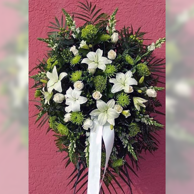 Flower Delivery Florist Funeral Sympathy Naples Nature S Lily Standing Spray