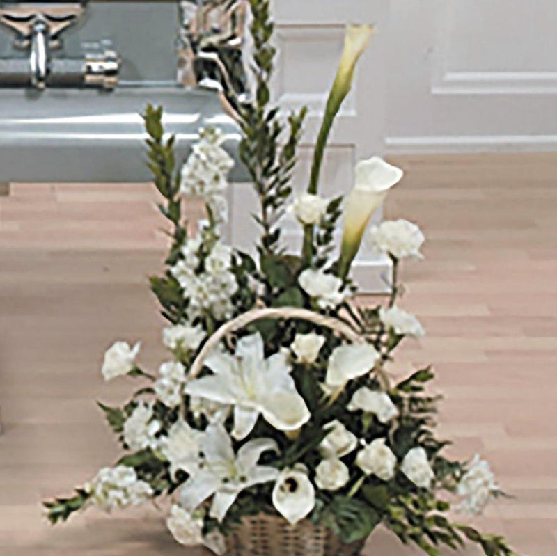 Flower Delivery Florist Funeral Sympathy Naples Peace And Love Floor Basket