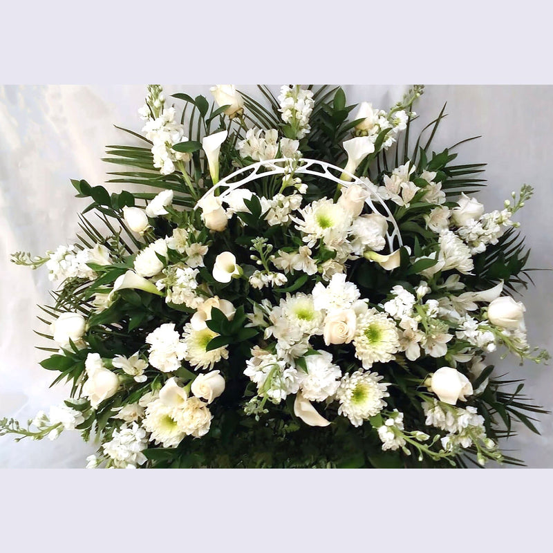Flower Delivery Florist Funeral Sympathy Naples Peace And Love Funeral Basket